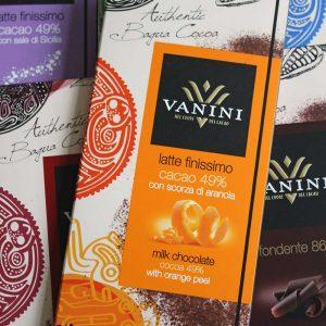 tableta de chocolate con naranja vanini gourmet leon