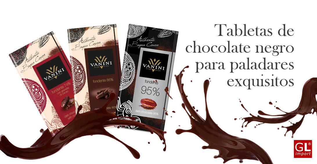 tabletas chocolate negro vanini