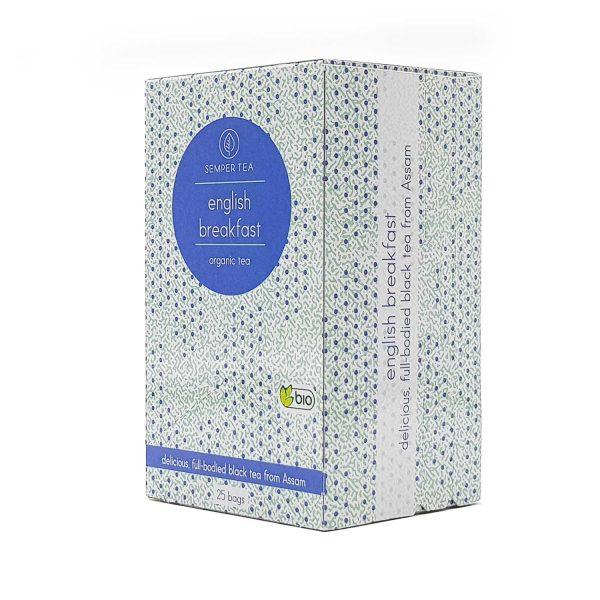 te ingles con leche english breakfast organico semper tea