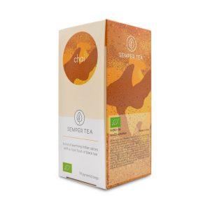 te negro chai receta ecologico especias bolsita piramidal semper tea