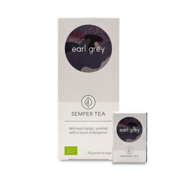 te negro earl grey bio en bolsa piramide biodegradable semper tea