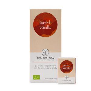 te rojo chino pu erh piramide biodegradable vainilla semper tea