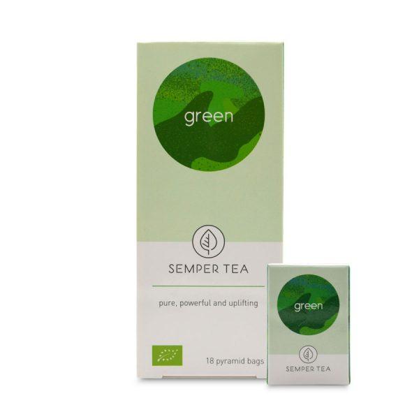 te verde para adelgazar en bolsa piramde green semper tea