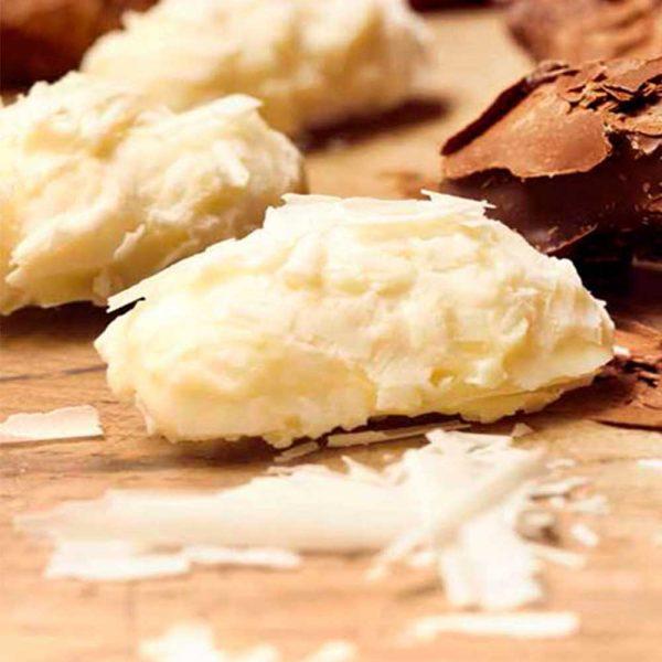 trufas de chocolate blanco para confiteria gourmet leon