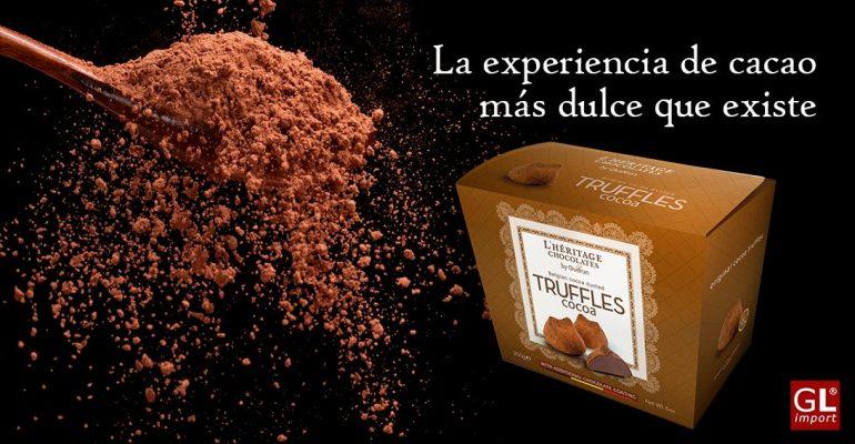 trufas de chocolate belga cacao leon