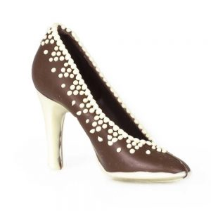 Zapato de chocolate tacón de chocolate belga ELLA